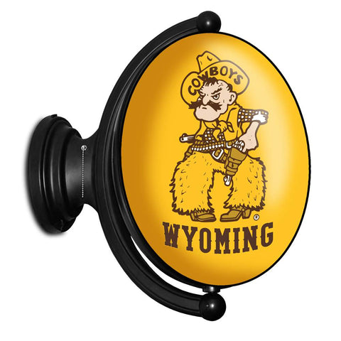 Wyoming Cowboys Rotating LED Team Spirit Oval Wall Sign-Oval-Buble-Pistol Pete