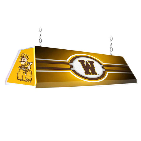 "Wyoming Cowboys 46"" Edge Glow Pool Table Light-Gold"