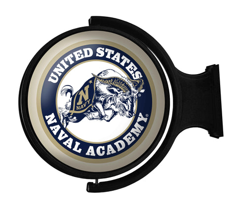 Navy Midshipmen Rotating LED Team Spirit Round Wall Sign-Ram