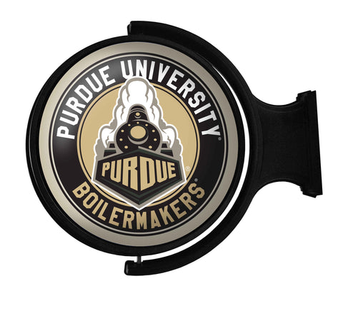 Purdue Boilermakers Rotating LED Team Spirit Round Wall Sign-Secondary Athletic Mark