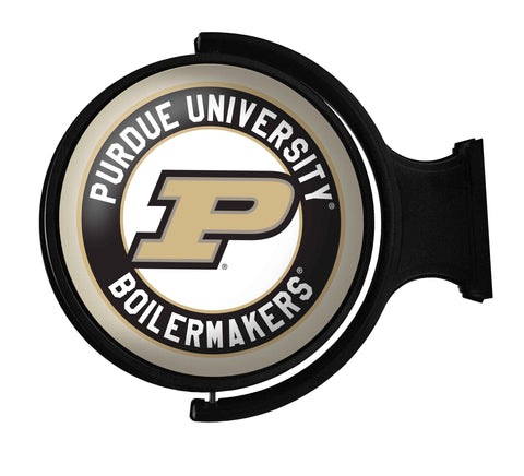 Purdue Boilermakers Rotating LED Team Spirit Round Wall Sign-Primary Logo