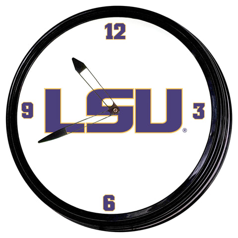 "LSU Tigers 19"" LED Team Spirit ClockU-Primary Logo"