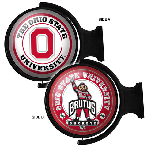 Ohio State Buckeyes Rotating LED Team Spirit Round Wall Sign-2 Sided