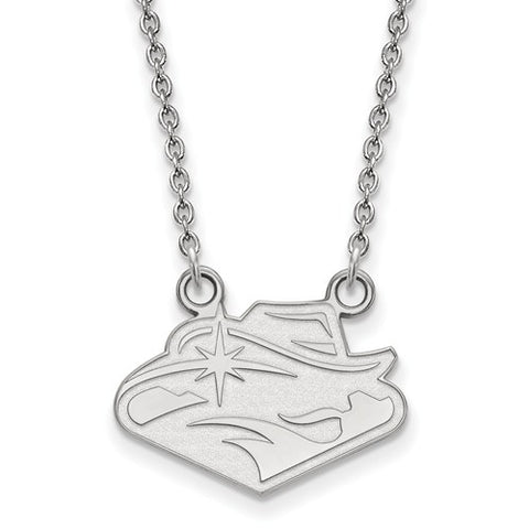 UNLV Rebels Small Pendant Necklace Sterling Silver