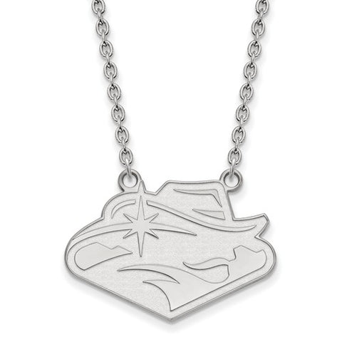 UNLV Rebels Large Pendant Necklace Sterling Silver