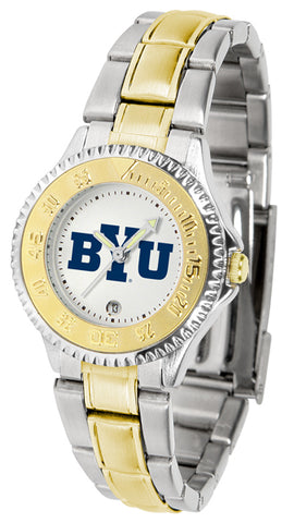 Brigham Young Cougars Competitor Ladies 2-Tone Watch