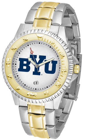 Brigham Young Cougars Competitor 2-Tone Watch -Mens
