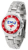 SMU Mustangs Competitor Ladies Steel Watch