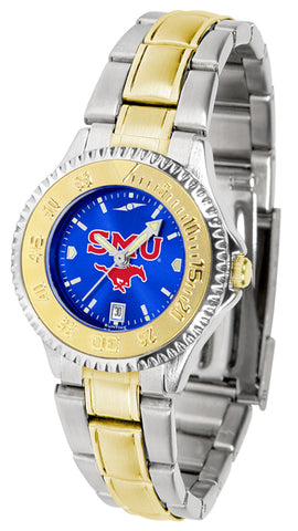 SMU Mustangs Competitor Ladies 2-Tone AC Watch