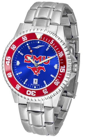 SMU Mustangs Competitor Steel AC - Color Bezel Watch -Mens