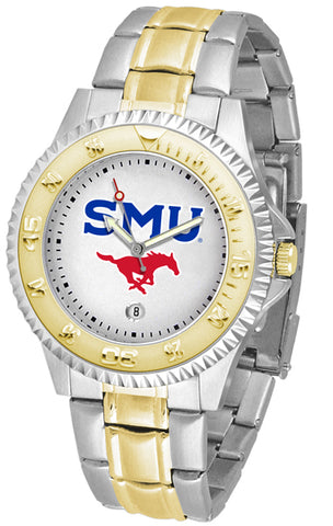 SMU Mustangs Competitor 2-Tone Watch -Mens