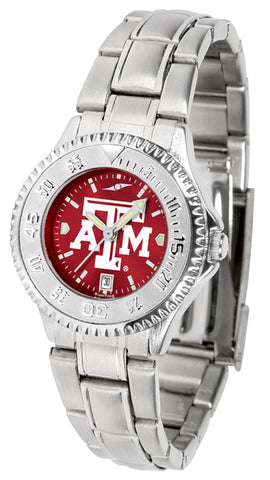 Texas A&M Aggies Ladies Competitor Steel AC Watch