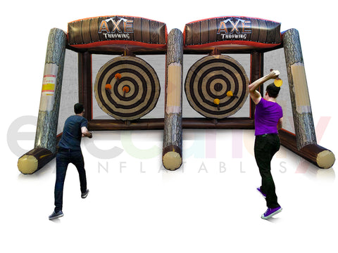 Inflatable Axe Throwing - Double