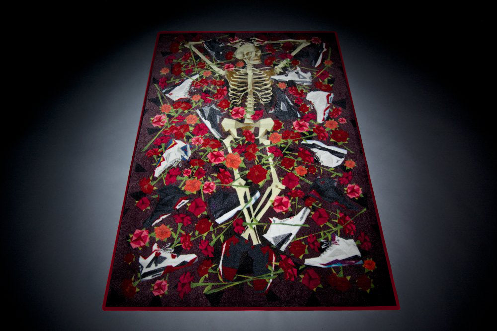 "Spilled x Naturel ""DOA"" (Dead on Air) Rug Retro"