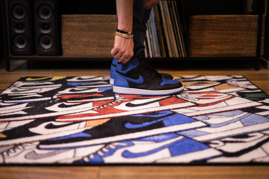Spilled x Larry Luk Air Jordan | Rainbow Study Rug