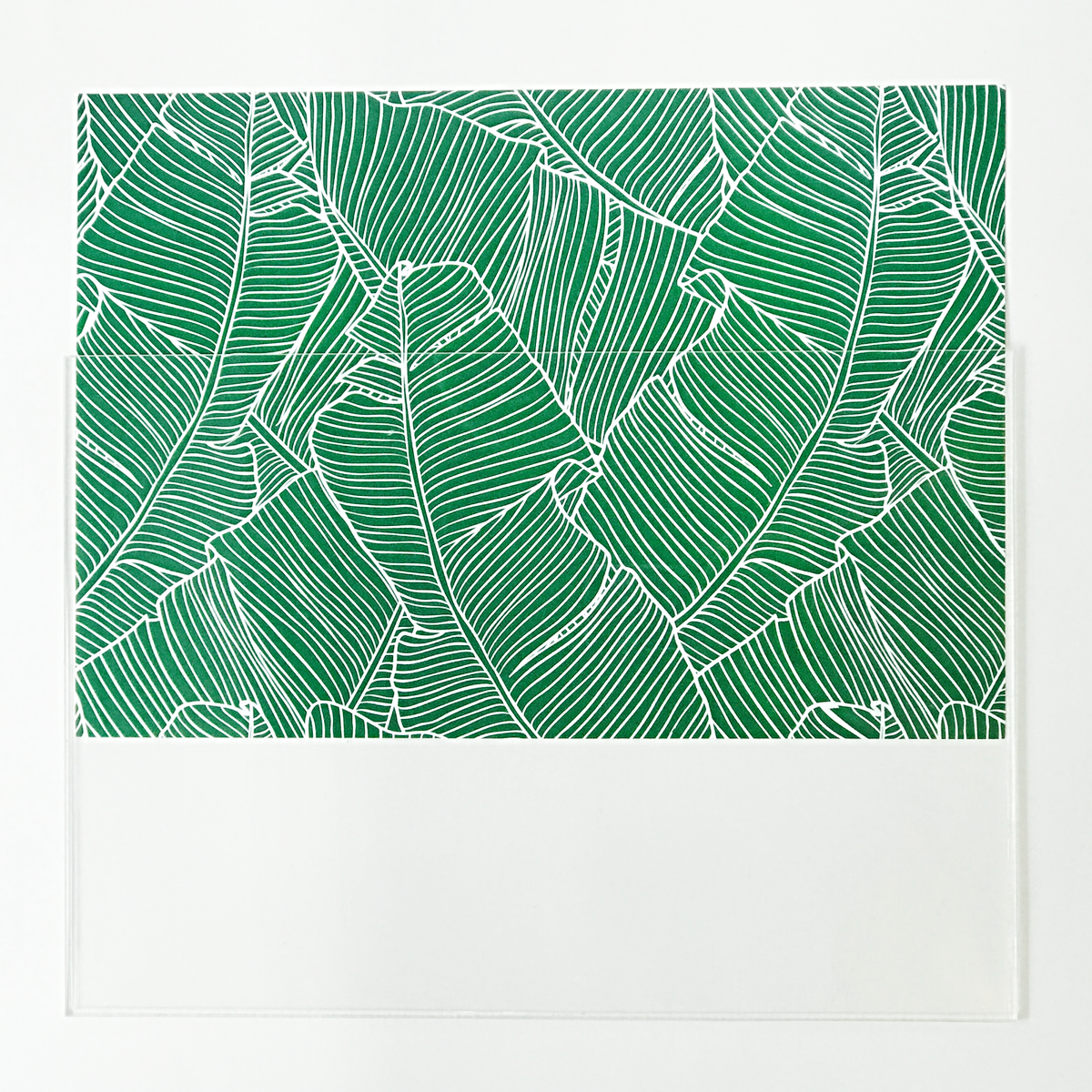 Green Palm insert inside Acrylic Placemat