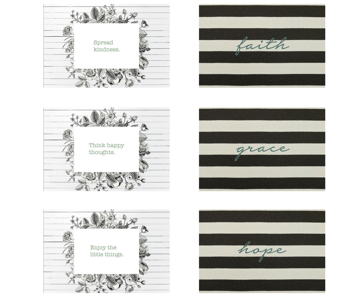 Vintage Inspiration Rectangle Collection |  6 Placemats + 12 Dailie Inserts
