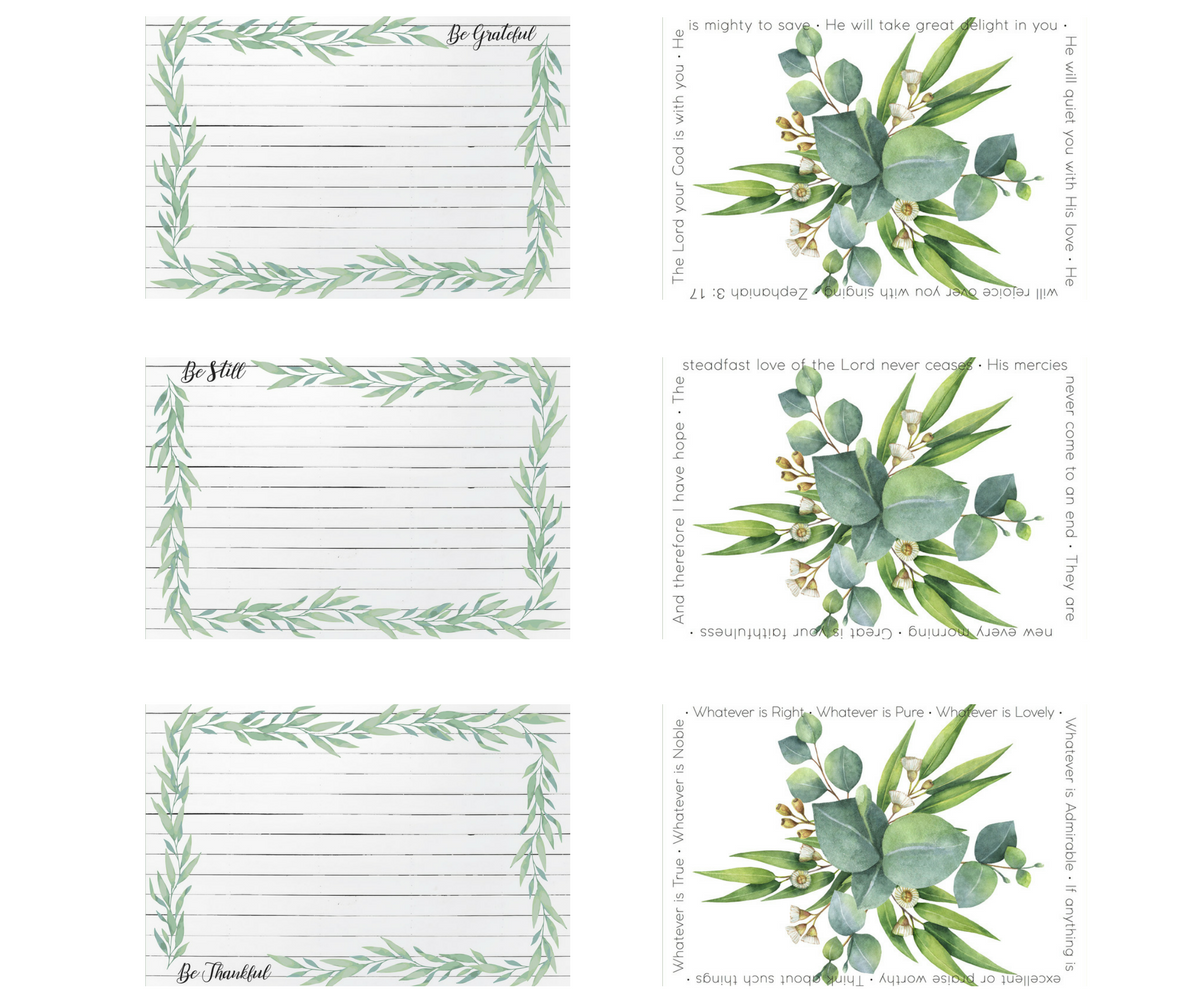 Seeds for Thought Rectangle Collection | 6 Placemats + 12 Dailie Inserts