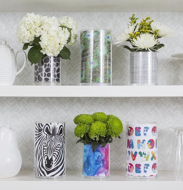 Vase Dailie Insert | White Crosshatch