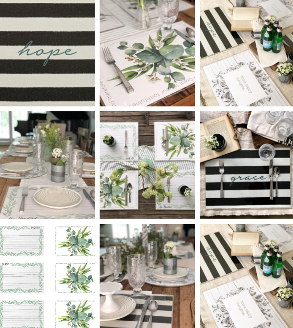 The Hostess Collection | 6 Placemats + 24 Dailie® Inserts