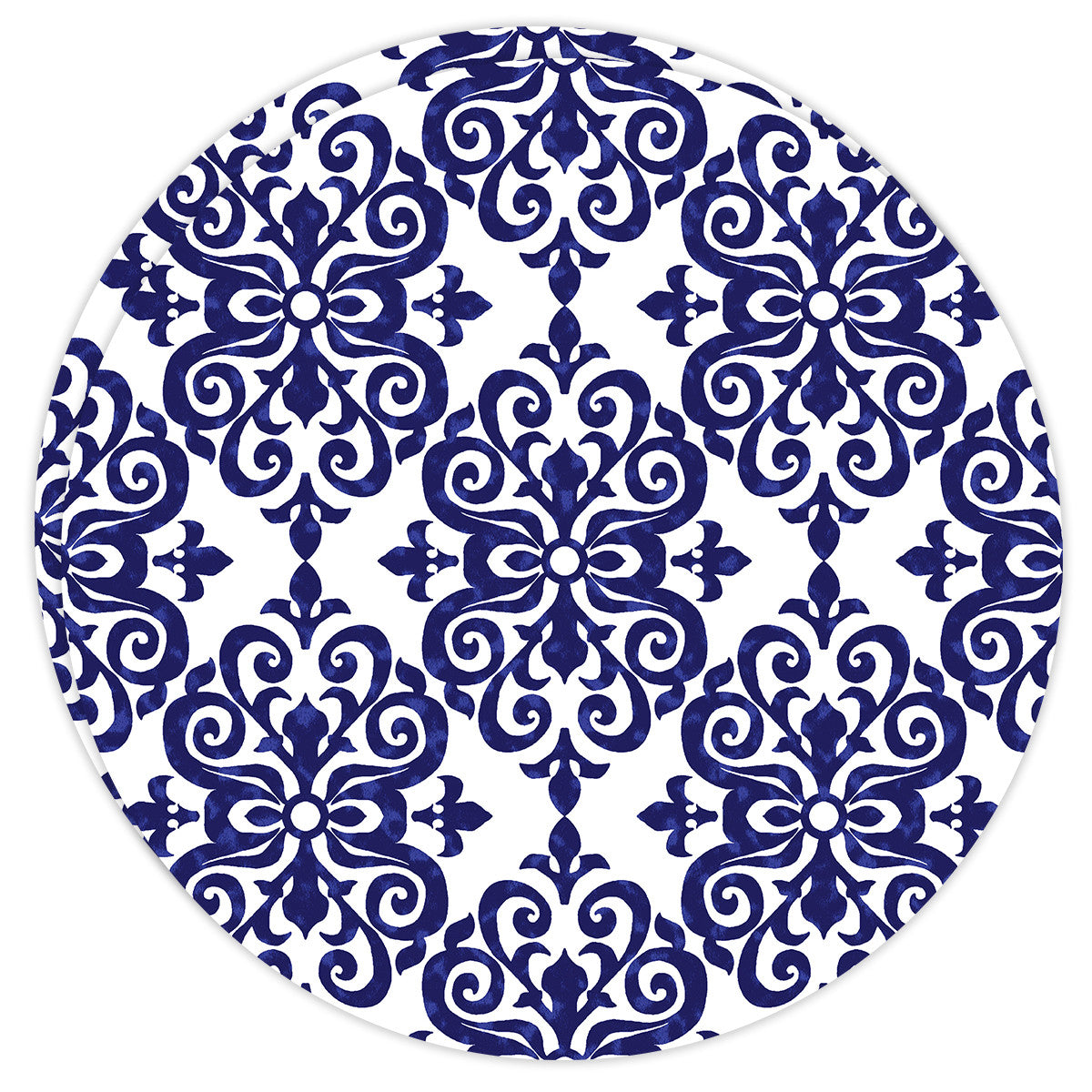 Round Dailies® | Navy Damask (2-Pack)