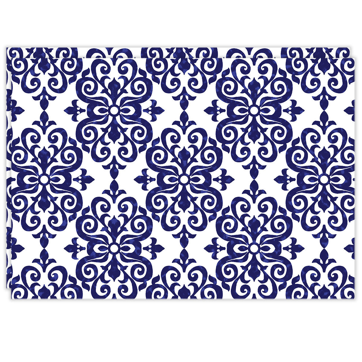 Rectangle Dailies® | Navy Damask (2-Pack)