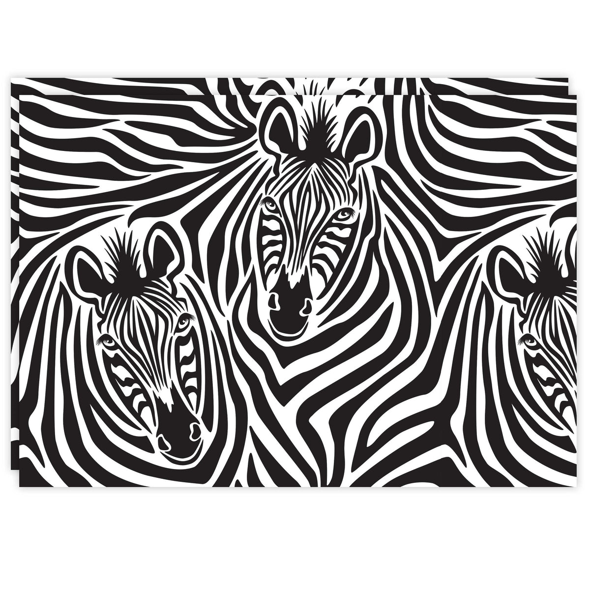 Rectangle Dailies™: Zebra