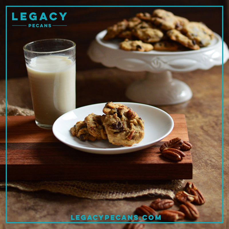 Santa Approved Pecan Cookies and Milk