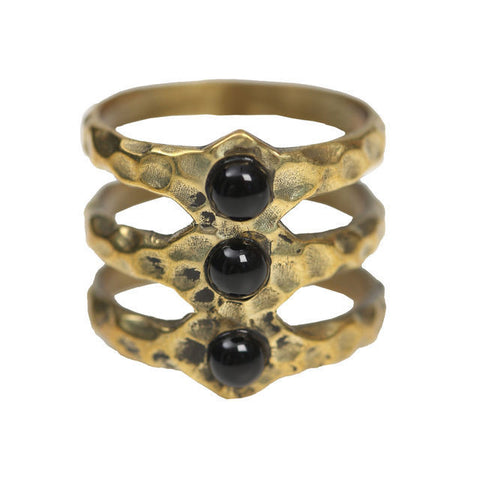 TRI BAND RING - BLACK
