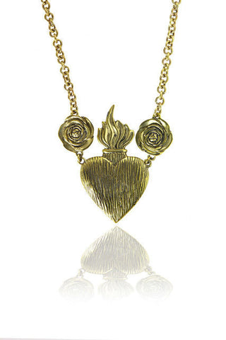 SACRED HEART ROSA NECKLACE