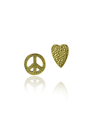 PEACE & LOVE MISMATCH STUDS