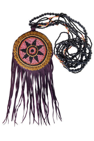 DREAMCATCHER NECKLACE, MARSALA