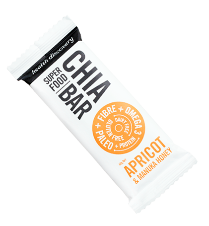 Superfood Bar Chia, Apricot & Manuka Honey, Gluten Free, Dairy Free, Paleo