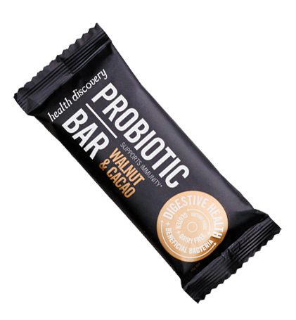 Superfood Bar Probiotic, Walnut and Cacao, Gluten Free, Dairy Free, Paleo