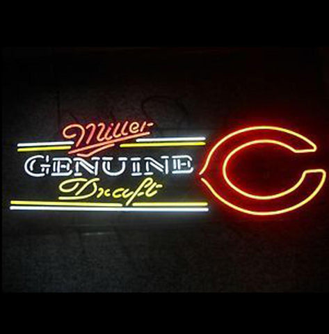Huge Miller Genuine Draft Quotchicago Bearsquot Neon