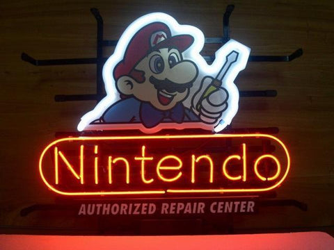 Nintendo Handmade Art Neon Sign