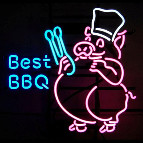 Professional  Best Bbq Beer Bar Open Neon Signs