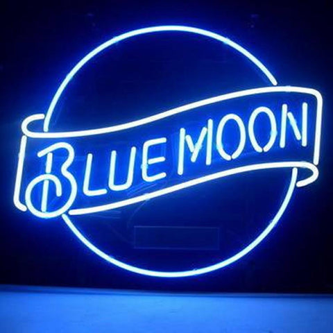 Professional  Blue Moon Lager Beer Bar Open Neon Signs