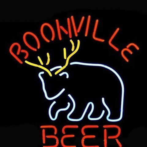 Professional  Boonville Deer Logo Pub Store Beer Bar Real Neon Sign Christmas Gift