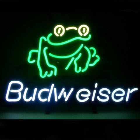 Professional  Budweiser Frog Beer Bar Pub Sign