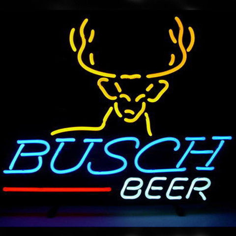 Professional  Busch Beer Bar Open Neon Signs