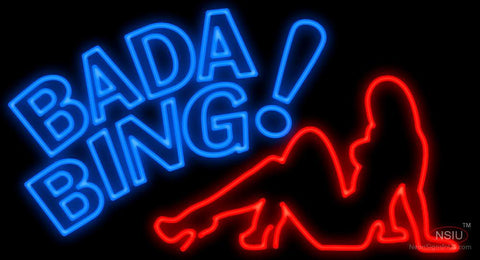 Bada Bing Lady Neon Sign