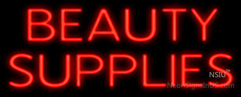 Beauty Supplies Neon Sign