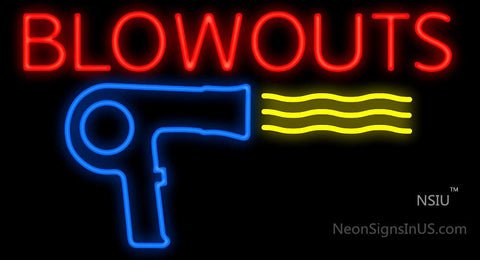 Blowouts Dryer Neon Sign