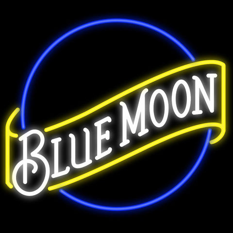 Blue Moon Neon Sign Custom Neon Signs