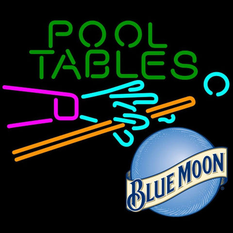 Blue Moon Pool Tables Billiards Neon Beer Sign