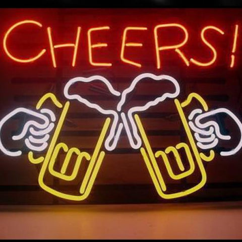 Professional  Cheers Beer Beer Bar Open Neon Signs