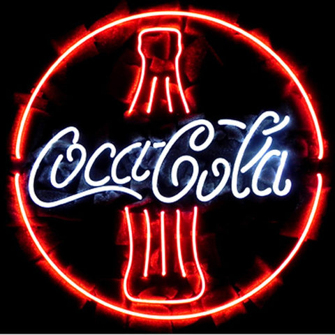 Professional  Coca Cola Coke Bottle Beer Bar Open Neon Signs