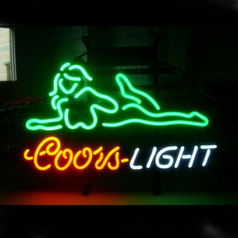 Professional  Coors Nude Girl Beer Bar Open Neon Signs