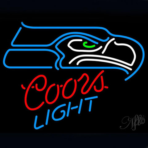 Professional  Coors  Seattle Seahawks Beer Bar Open Neon Signs